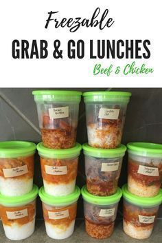 Freezable Grab & Go Lunches Made in the IP Freezable Meal Prep, Freezable Recipes, Freezable Casseroles, Lunch Meal Prep, Freezer Recipes, Lunch Recipes, Paleo Recipes, Lunch Meals, Sauce Recipes