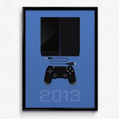 PlayStation Inspired Minimalist PlayStation 4 by PrinsDesignStudio