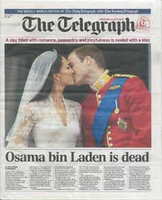 royal wedding / osama is dead