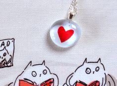 Heart Necklace Valentine's Day Love by jamieshelman on Etsy, $28.00