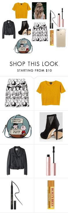 """""""peanuts inspire."""" by alexisnagrampa on Polyvore featuring Peter Jensen, Monki, Olympia Le-Tan, ALDO, Acne Studios, Too Faced Cosmetics, tarte and Speck"""