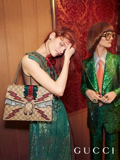 A shot from the Gucci spring 2016 ad campaign. Photo: Glen Luchford for Gucci. Fashion Advertising, Advertising Campaign, Fashion Week, Star Fashion, Net Fashion, Gucci Fashion, Fashion Tape, Fashion Graphic, Fashion Shoot