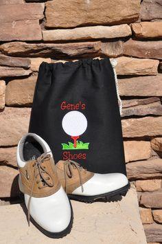 Personalized Golf Shoe Bag by BadDogWear on Etsy, $13.00