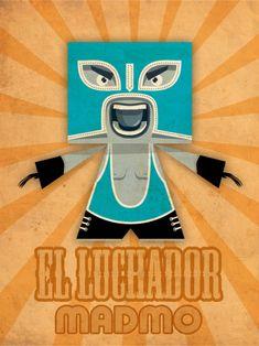 Blog Paper Toy papertoy El Luchador Zerolabor visual El Luchador by Zerolabor