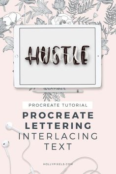 I'm sharing this fun Procreate lettering tutorial with you today on interlacing text together to help you build a diverse lettering portfolio. Ipad Pro, Affinity Designer, Digital Art Tutorial, Lettering Tutorial, Brush Lettering, Design Tutorials, Creations, Animation, Painting