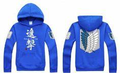 Attack on Titan Jacket Sweater Coat,Eren Jaeger Jacket Shingeki No Kyojin Scouting Legion Hoodie Size S xcoser