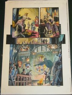 ORIGINAL Comic Art OUTLAW PRINCE Michael KALUTA Thomas YEATES Painted art PG 8