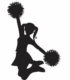 free cheer sillohette clip art black and white cheerleader clip rh pinterest com cheerleading clipart images cheerleading clipart images