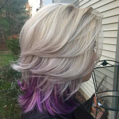 The Main Attraction of Peek a Boo Highlights  The color can be applied to the bangs, sides or the back sections, making the possib
