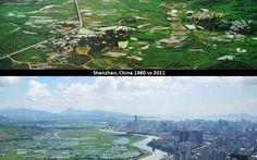 Shenzhen, China 1980 vs 2011