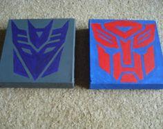 Autobot and Decepticon Transformer Logo