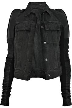 DRKSHDW by Rick Owens Robot denim and leather jacket