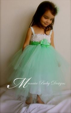 Mint Green Tutu Dress / Layered Tutu Dress / by ManaiaBabyDesigns, $35.00