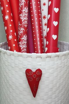 true confession....I only use red and white paper for Christmas.  Did I hear you say OCD?