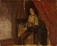 Walter Sickert - Woman Seated on a Bed, Dieppe