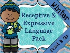 Finally! A winter-focused receptive and expressive language pack that you can just print and use straight away! I'm so excited to offer this resource.