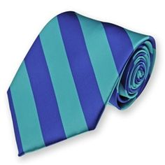 Men's Royal Blue and Turquoise Striped Tie, $7.95.