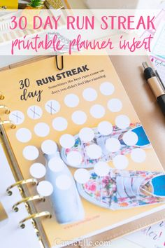 This A5 planner insert is a great way to track your daily runs - it also comes in an 8.5x11!