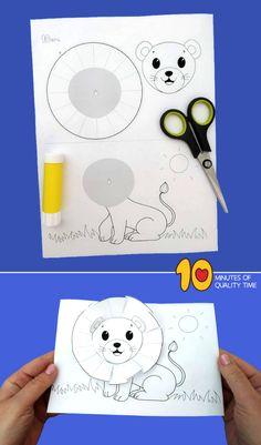 Lion Craft Template - Lion craft for kids Spring Crafts For Kids, Diy For Kids, Lion Craft, Fun Crafts, Paper Crafts, Masks Art, Animal Masks, Mask For Kids, Diy Mask