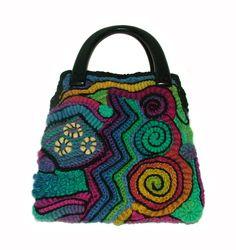 Rainbow freeform handbag http://rensfibreart.wordpress.com/2013/12/03/womens-rainbow-freeform-crochet-handbag/dscf9736/