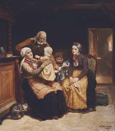 Grand-parents, Grand-Père, grand-Mère éviqués en rêve - ©Adolph Tidemand - 1814-1876