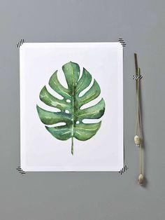 Tendance monstera // Hëllø Blogzine blog deco & lifestyle www.hello-hello.fr #monstera #vegetal #tropical #green #greenterior