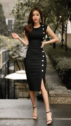 Women's Sleeveless High Neck Maxi Dress -Universal Thread™ - Cute classic black dress design – Black Dresses – Ideas of Black Dresses – Source by - Elegant Dresses, Sexy Dresses, Cute Dresses, Beautiful Dresses, Casual Dresses, Short Dresses, Fashion Dresses, Dresses For Work, Summer Dresses