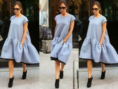 I am completely in awe of Victoria Beckham and not for the reasons that you may t. Victoria Beckham Stil, Victoria Fashion, Mode Inspiration, All About Fashion, Celebs, Celebrities Fashion, Style Me, Midi Skirt, Celebrity Style
