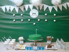 FOUR! Golf themed 30th birthday party ideas.