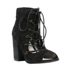Women's Fergie Footwear Riviera Open-Toe Lace-Up Bootie