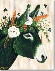 """Unique & Affordable Artwork│Selling Art like Spring Whitaker's """"Kilty"""" Responsibly Donkey Drawing, Plant Painting, Hand Painted Rocks, Selling Art, Animal Paintings, Art Inspo, Watercolor Art, Fantasy Art, Art Drawings"""
