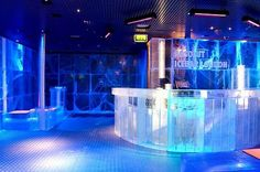 ABSOLUT ICEBAR LONDON is the UK's only permanent bar made of ice and is kept at minus 5 degress all year round. Everything inside is made out of crystal clear ice harvested especially from the frozen Torne River in Jukkasjarvi, Northern Sweden