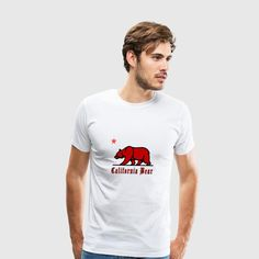 california bear Men's Premium T-Shirt ✓ Unlimited options to combine colours, sizes & styles ✓ Discover T-Shirts by international designers now! California Bear, Bear Men, Sweatshirts, Mens Tops, Clothes, Bear Hunting, Bear Animal, Bear Mountain, Bearded Collie