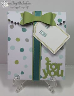 December 13, 2014 Stamp With Amy K: Stampin' Up! Merry Everything Mini Treat Bag Thinlits Dies, Note Tag Punch, Bow Builder Punch…
