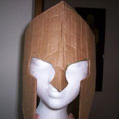 How to Make Spartan Armor From Cardboard - Masken Basteln Kinder Cardboard Costume, Cardboard Mask, Cardboard Paper, Roman Soldier Helmet, Roman Helmet, Soldier Costume, Knight Costume, Crafts For Boys, Diy For Kids