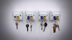 DYI  Keychain wall dock. Never lose your keys again.