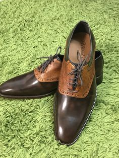 Hello from Michael Snell Bespoke join me here www.gvsclothiers.com for your shopping needs. These are leather and Ostrich skin shoes! #michaelsnellbespoke #lifestylechanges #therebirthofthegentlemen