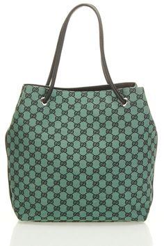 Gucci Medium GG Tote In Green