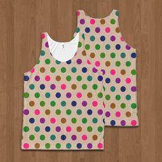 SOLD Unisex Tank Polka Dots https://www.zazzle.com/unisex_tank_polka_dots-256203725081596957 #Zazzle #Unisex #Tank #Polka #Dots #polkadot #pois #pattern #colorful