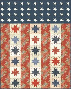 Quilt of Valor #quilt #pattern  I made a couple of blocks and donated them.