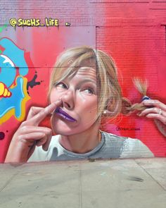 By Brazilian artist Sipros  @sipros_sipros  Street art work in Brooklyn, New York City. Graffiti is widespread - with many murals, wheatpastes and stencils.
