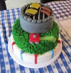 Father's Day Cake...love the lawn mower!