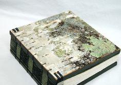 Handmade birch journal with a coptic binding