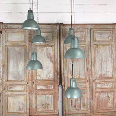 set of holophane pendant lights