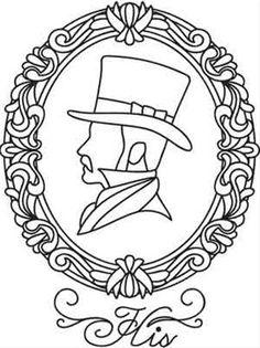 Coloriage d'un profil d'homme. A vos crayons !