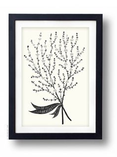 THYME Family Tree, 4 or 5 generations - CUSTOMIZABLE - 13 X 19
