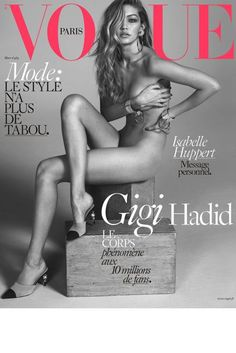 Gigi Hadid Naked On Vogue Paris - Pictures 2016 | Glamour UK