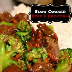 THE yummiest Beef & Broccoli in your #CrockPot slow cooker!! #Recipe