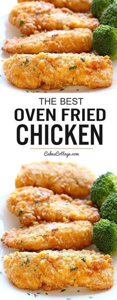 The best oven fried chicken – Crispy on the outside and tender on the inside, and baked right in the oven for easy cleanup. The best oven fried chicken – Crispy on the outside and tender on the inside, and baked right in the oven for easy cleanup. Turkey Recipes, Meat Recipes, Cooking Recipes, Healthy Recipes, Recipies, Cooking Time, Cooking Ideas, Easy Cooking, Simple Recipes