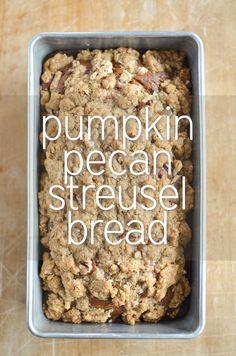 Pumpkin Pecan Streusel Bread | simplywhisked.com